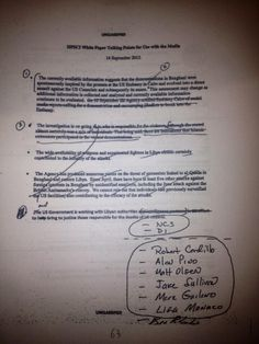 key page of #Benghazi edited talking points. #StevenTDennis