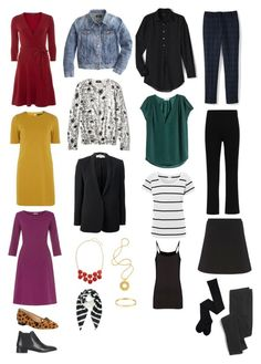 Capsule Wardrobe - Business Casual, Stretchy Machine Washable by woxy on Polyvore featuring Kaliko, Dorothy Perkins, Lands' End, H&M, Lipsy, STELLA McCARTNEY, J.Crew, Theory, Madewell and Joseph
