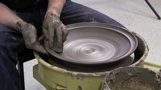 Throwing a plate on a potters wheel: Mats Svensson