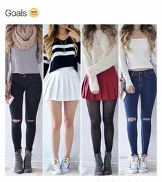 Highschool back to school shopping cute outfits                              …