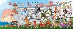 Ed ecco la mega-collab che abbiamo realizzato per lo Studio Ghibli! La stampa (100x40cm) è stata consegnata personalmente al maestro Isao Takahata! Resoconto completo qui --> www.facebook.com/no...