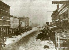 Water Street, Elmira, NY - early 1800s
