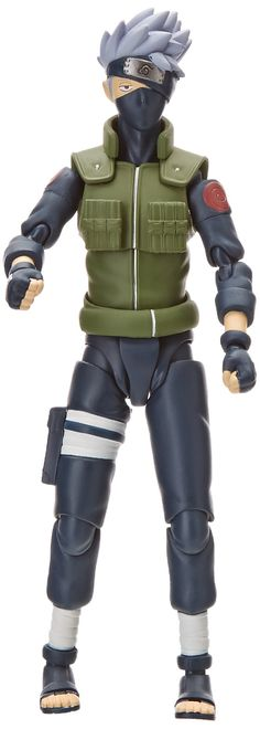 """Bandai Tamashii Nations Hatake Kakashi """"Naruto Shippuden"""" Action Figure. From serious mode in the play until you playfully mode, it comes with a number of optional parts to reproduce a variety of one side of the Scarecrow. Replacement wrist left and right each four. Replacement face part two. Miyauchi two. Kaminarisetsu effects (with wrist) Hot Flirt Tactics (with wrist)."""