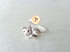 cat personalized ring