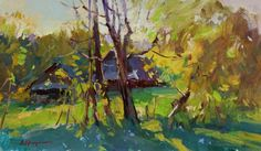 "Saatchi Art Artist Aleksandr Kryushyn; Painting, ""The September sun"" #art"