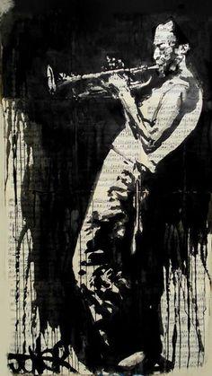 Romántica pintura sobre papel reciclado de Loui Jover - Taringa!