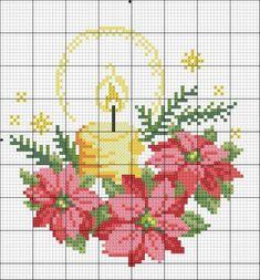 ru / Foto n º 27 - 141 - Cross Stitch Christmas Cards, Xmas Cross Stitch, Cross Stitch Cards, Cross Stitch Flowers, Christmas Cross, Cross Stitching, Cross Stitch Embroidery, Embroidery Patterns, Modern Cross Stitch Patterns