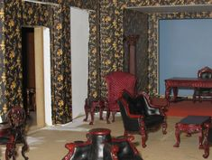GALLERY - Les Chinoiseries 1:12 Print Fabrics & wallpapers