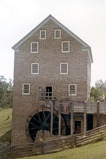 Roblin's Mill, a watermill, at Black Creek Pioneer Village in Toronto, Canada.