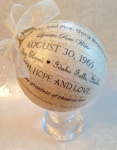 50th Wedding Anniversary Personalized by HappyThoughtsbyKelly