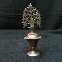 Rare Vintage Hand Made Handwork Brass Mascara Eyeliner Perfume Surma Dani A 358