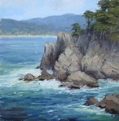 The Windy Coast by Kathleen Dunphy Oil ~ 12 x 12