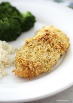 Parmesan ranch crusted chicken ...simple and delicious! #dinner #recipe