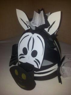 Zebra verjaardagsmuts #Danique