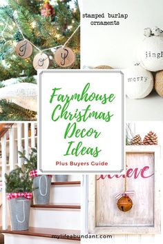 Farmhouse Christmas Decor Ideas via @tammy1999