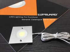 LED Ultra-thin Cabinet Light (Surface Mounted).  Material: Aluminium, Size: 60x60xH5 mm