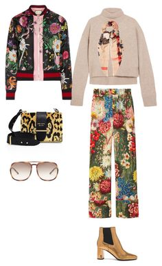 """Free 3 second"" by kristina-56 on Polyvore featuring мода, Gucci, Rejina Pyo, Yves Saint Laurent, Prada, Burberry и Chloé"