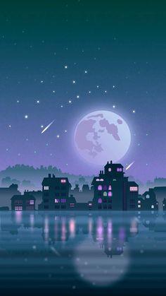 Space Phone Wallpaper, Anime Scenery Wallpaper, Galaxy Wallpaper, Iphone Wallpaper, Sky Aesthetic, Aesthetic Anime, Cool Backgrounds, Wallpaper Backgrounds, Simple Anime