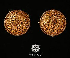 Cleaner For Gold Jewelry Gold Jhumka Earrings, Gold Earrings Designs, Gold Jewellery Design, Gold Jewelry, Handmade Jewellery, Bridal Jewelry, Round Earrings, Necklace Designs, Earrings Handmade