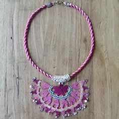 Needle lace necklace.Traditional türkish style