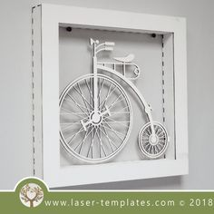 This ready-to-go Classic Bicycle Frame is perfect for laser cutting. Try something new and create unique products suitable for Interior Decorating, Birthday Gifts, Special Occasion Gifts and so on. Mountain Bike Clothing, Try Something New, Laser Engraving, How To Draw Hands, Interior Decorating, Bicycle, Templates, Cool Stuff, Classic