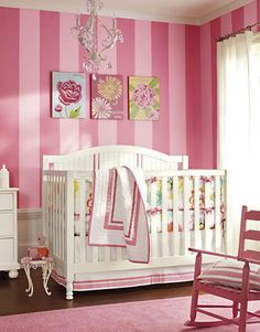 PB Nursery example - please note how the walls look like a Victoria's Secret shopping bag?  LOL