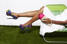Sitting pretty in Kamela! Who doesn't love lounging on a summer day? #ShoeDazzle