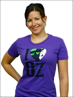 Wicked the Broadway Musical -  I Heart Oz Ladies T-Shirt $38.95