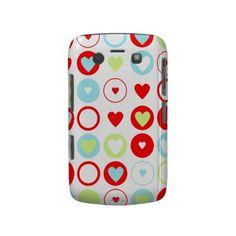 Circle Heart Pattern Blackberry Bold Case