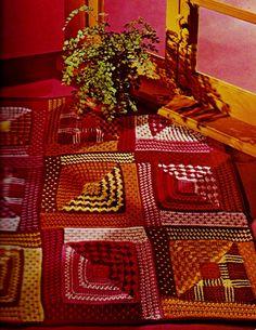 Boho Patchwork Rug PDF Crochet Pattern by MomentsInTwine on Etsy