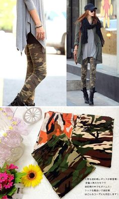 lefutur | Rakuten Global Market: Camouflage pattern leggings women's pants rip up military regions leg pain tight pants beauty leg effect fall/winter 着痩se effect bottoms Camo pants, in tea style! 05P07Feb15