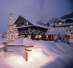 Trapp Family Lodge... Besides a beach wedding, I always loved the idea of getting married here in the winter with lots of snow