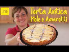 TORTA ANTICA DI MELE E AMARETTI - Ricetta Facile in Diretta - YouTube Apple Cake Recipes, Cookie Recipes, Apple Cakes, Bruchetta, Torte Cake, Dairy Free Recipes, Sauce Recipes, No Bake Cake, Italian Recipes