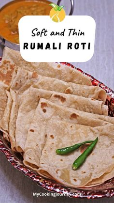 Roomali Roti | Soft and Thin Rumali Roti, is a popular flatbread from the regions of India and Pakistan. The texture and the fold of the roti resembles the Handkerchief and hence called the Handkerchief roti. Easy Dinner Recipes, Dessert Recipes, Easy Meals, Rumali Roti, Good Food, Yummy Food, Recipe Boards, Vegan Recipes, Yummy Recipes