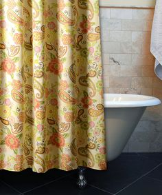 Look what I found on #zulily! Sunset Paisley Shower Curtain by Greenland Home Fashions #zulilyfinds