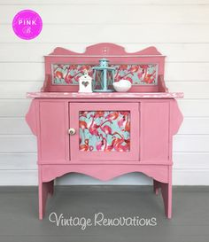 A personal favourite from my Etsy shop https://www.etsy.com/uk/listing/562085527/vintage-washstand-hand-painted-with