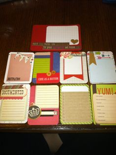 "Handmade PL Project Life journaling card set ""Out & About"""