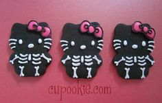 Halloween Hello Kitty cookies - Hello Kitty in itself is scary as it is!!