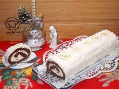 Hó-(labda)-rolád Cake Cookies, Cake Recipes, Recipies, Dairy, Food And Drink, Xmas, Cheese, Snacks, Cooking