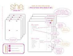 """The downloadable version of [The Smart Woman's Guide to Doing it All]  """"The Plan"""" to get + stay organized~"""