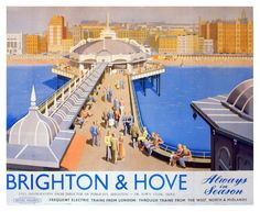Vintage Railway Advertising Rail Travel Poster Reprint A3 Brighton & Hove | eBay