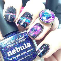 picture polish 'Nebula' = galaxy nails by OhMyGoshPolish