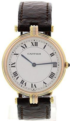 Cartier-Vendome-swiss-quartz-white-womens-Watch-NA-Certified-Pre-owned - watches, black, seiko, luxury, simple, sport watch *ad