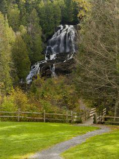 Beaver Brook falls in Colebrook, New Hampshire, USA
