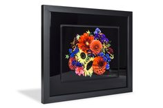 David Fishman's Botanical Portraits // Product: White Gloss Metal in an Accent Frame