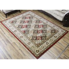 Super Belkis Multicolored Polypropylene Machine-made Area Rug (8' x 11') (Multi), Size 8' x 11'