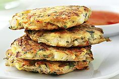 Hide heaps of veggies in these yummy fritters and watch the kids wolf them down! Make extra, and put them in the lunch box for school or work the next day. Peeling Potatoes, Veggie Fritters, Zucchini Fritters, Chickpea Fritters, Potato Fritters, Toddler Food, Toddler Meals, Kids Meals, Yummy Recipes