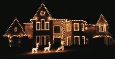 Residential Christmas light decorations