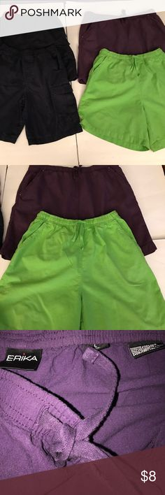 Lot of Shorts 2 Erika Shorts size Large. Excellent condition! 2 dark blue( little faded) great condition! Size Large Shorts