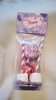 Idée de cadeau d'invité pour un goûter d'anniversaire sur le thème de Violetta. Kit de réalisation en vente sur le site.  Violetta fille Idea of favors for Birthday party violetta themed girl little. DIY